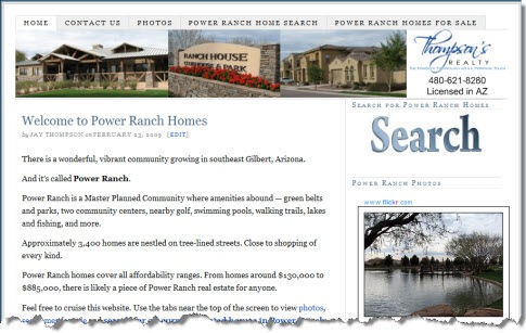 Power Ranch Homes Site Screen Shot